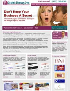 graphic memory web design marketing homepage 2010