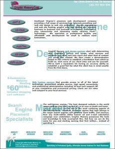 graphic memory web design homepage 1998