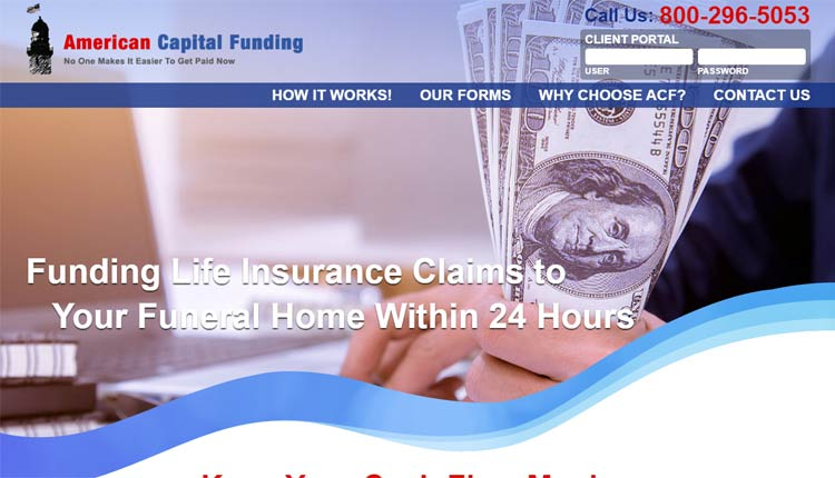 american capital funding homepage design hampton va