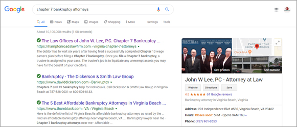 bankruptcy attorney seo marketing