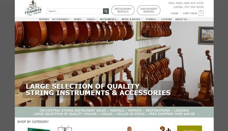 evergreen workshop homepage design example newport news
