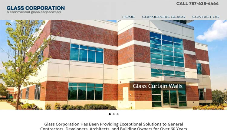 glass corporation homepage design norfolk va