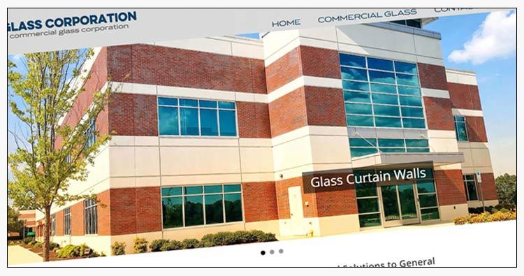 norfolk va commercial glass company website design example