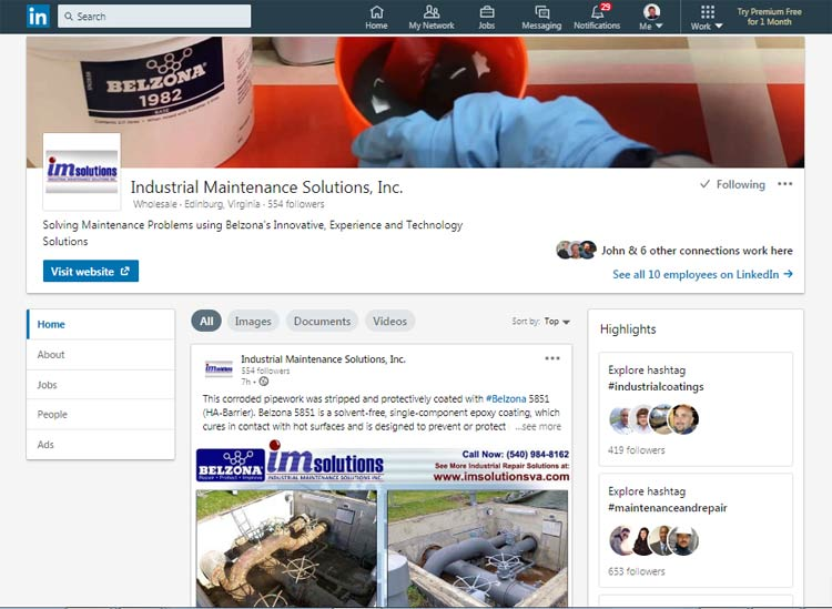 linkedin newsfeed posting services newport news
