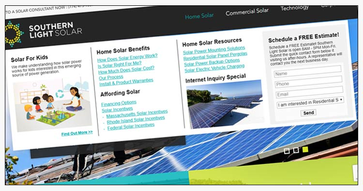 wordpress solar energy website examples newport news