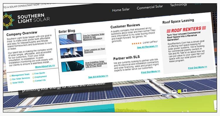 wordpress solar sales website design examples yorktown va
