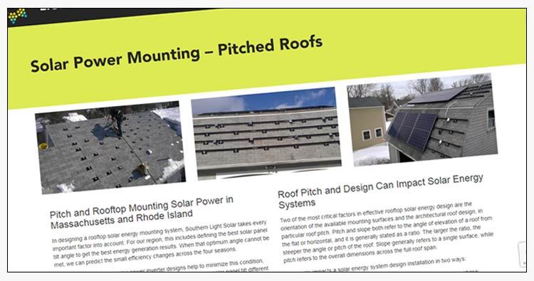 wordpress solar power website design example - hampton roads va