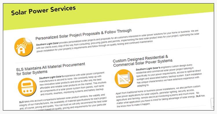 wordpress solar energy website design examples suffolk va