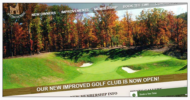 wordpress golf course website designs suffolk va