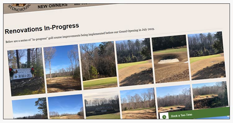 wordpress golf course website examples