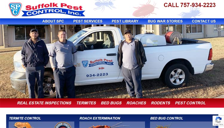 suffolk pest control homepage design example suffolk va