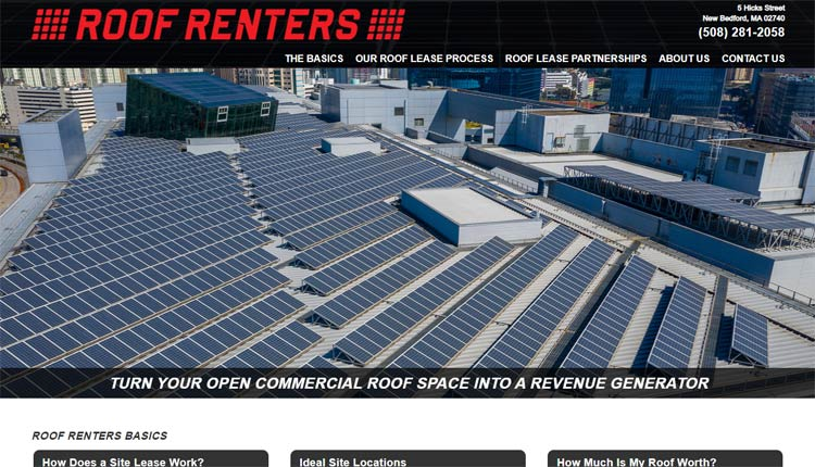 the roof renters homepage design example new bedford ma