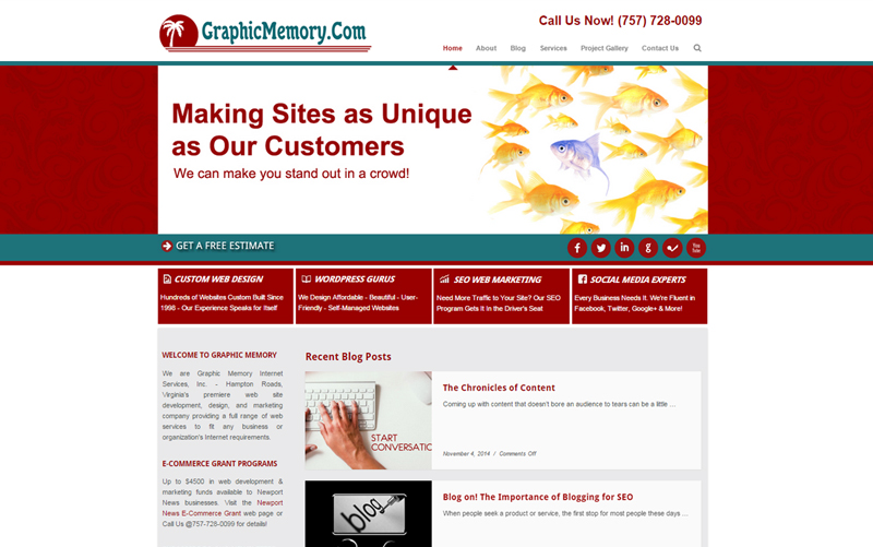 hampton roads web designers homepage 2014