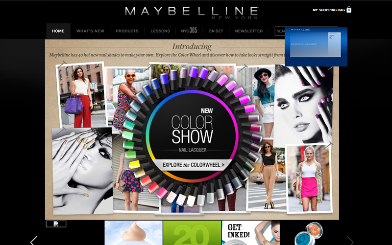 maybelline cosmetics homepage 2011