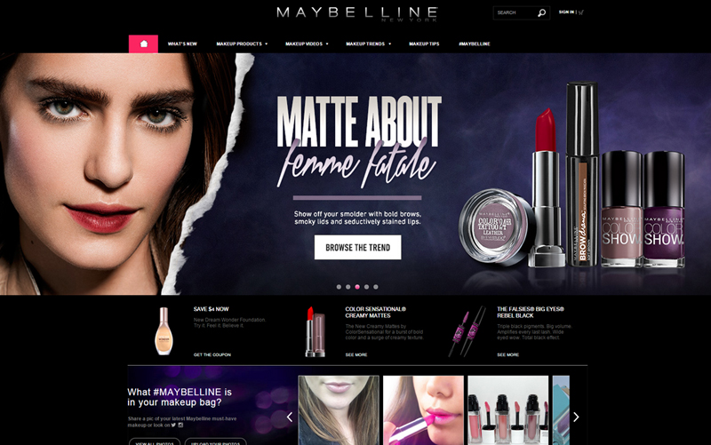 maybelline cosmetics homepage 2014