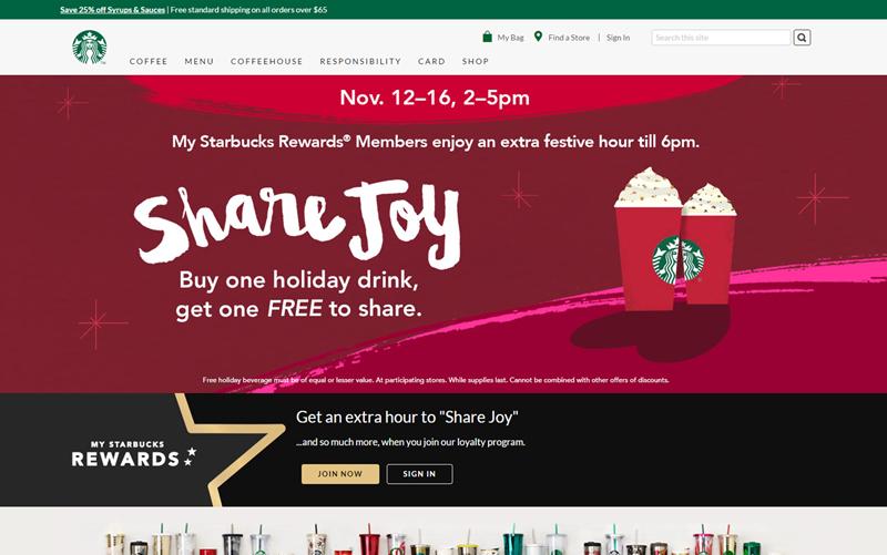 starbucks coffee homepage 2014