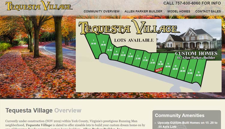 wordpress custom home builder website design examples virginia beach