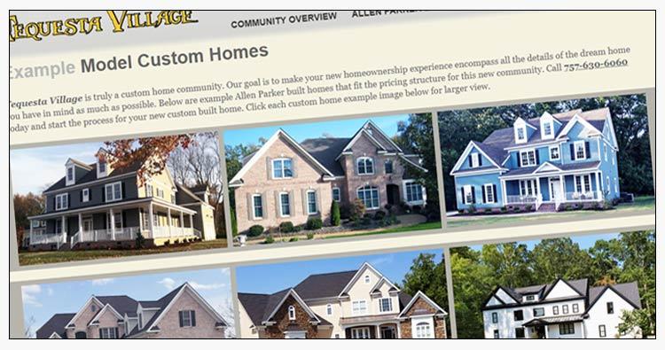 wordpress custom home builder website design examples yorktown va