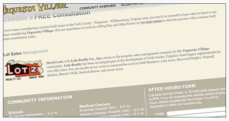 wordpress custom home builder website design examples poquoson va